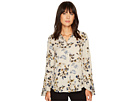 Vince Camuto Flared Sleeve Timeless Bouquet Button Down Blouse