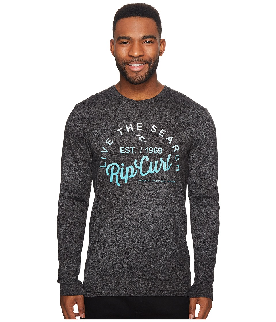 Rip Curl Shred City Mock Twist Long Sleeve Tee (Black Heather) Men