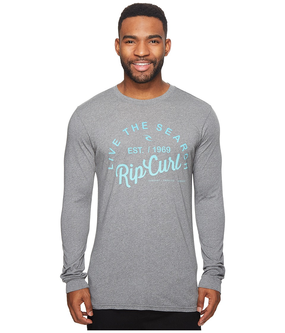 Rip Curl Shred City Mock Twist Long Sleeve Tee (Platinum Heather) Men