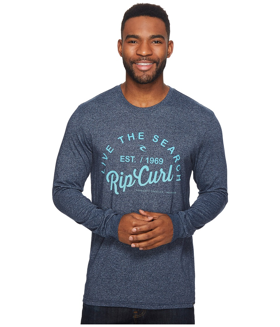 Rip Curl Shred City Mock Twist Long Sleeve Tee (Navy Heather) Men