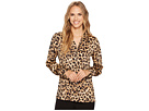 Vince Camuto Long Sleeve Exotic Animal Button Down Blouse
