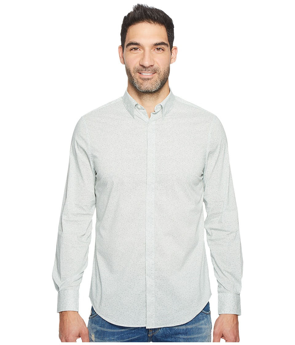 Perry Ellis Travel Luxe All Over Geometric Shirt (Bright White) Men