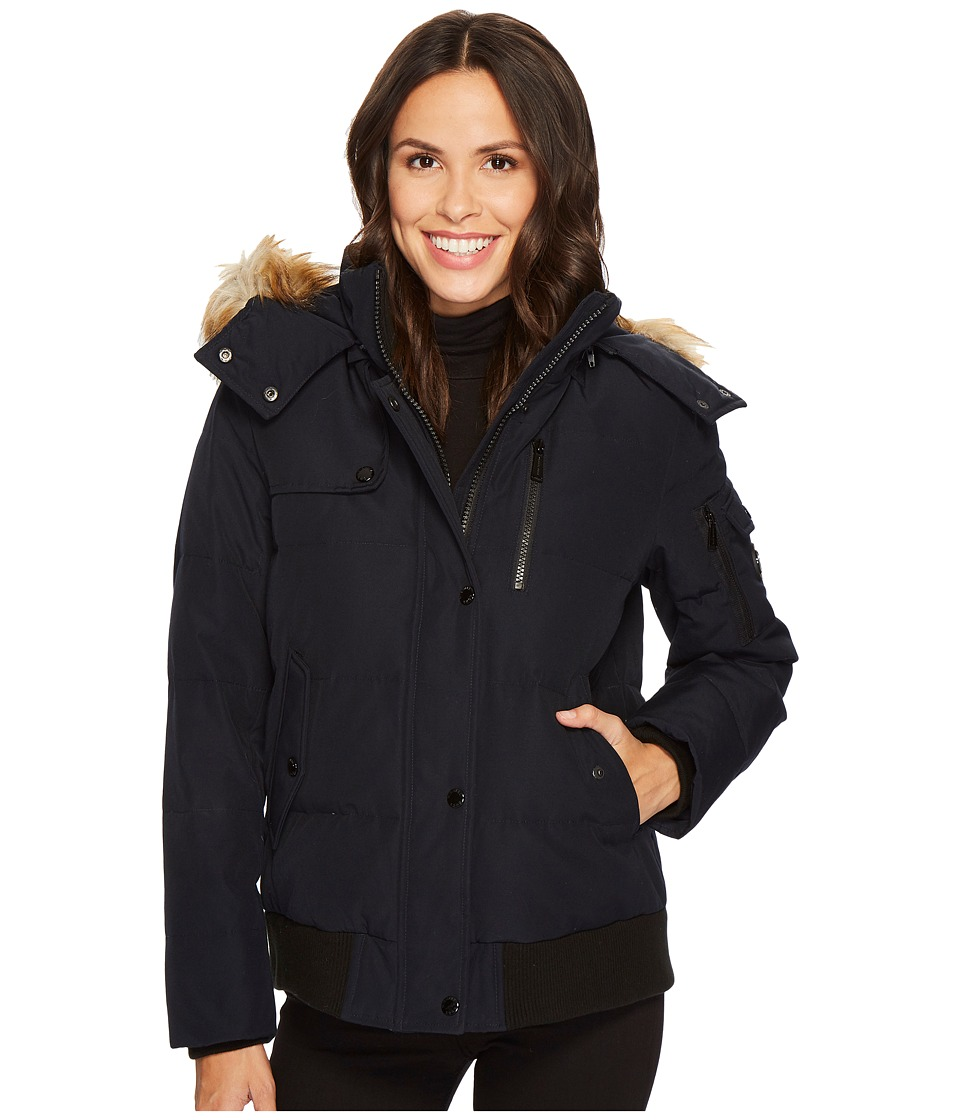 Michael Kors Down Bomber M821916C (Navy) Women's Coat