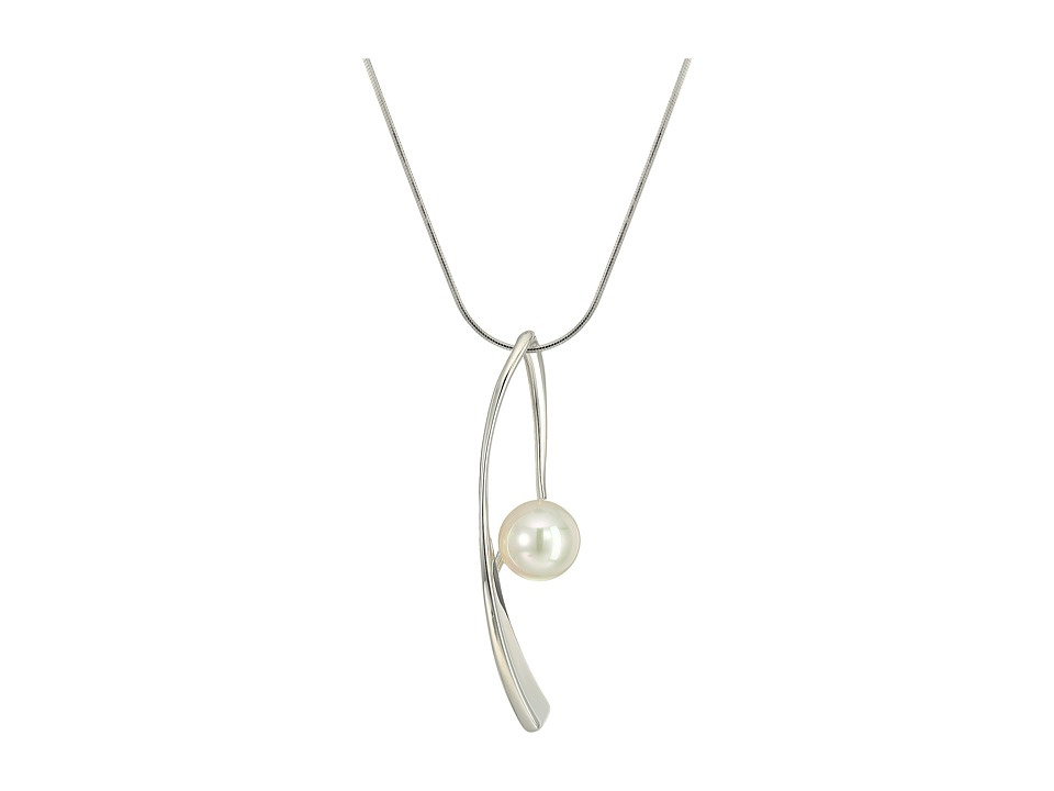 Majorica - 10mm Round Sterling Silver Wave Necklace 16