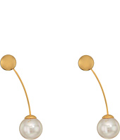 Majorica - 10mm Round Gold Plated Earrings
