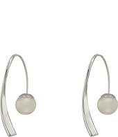 Majorica - 10mm Round Sterling Silver Wave Earrings