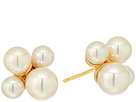 Majorica Pearl Cluster Gold Plated Bubble Earrings