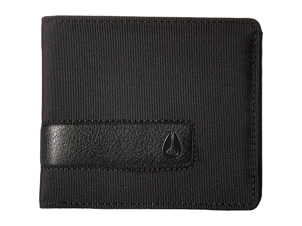 Nixon - Showtime Bi-fold Zip (All Black Nylon) Bill-fold Wallet