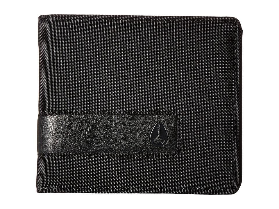 Nixon - Showtime Bi-fold Zip (All Black Nylon) Bill-fold Wallet