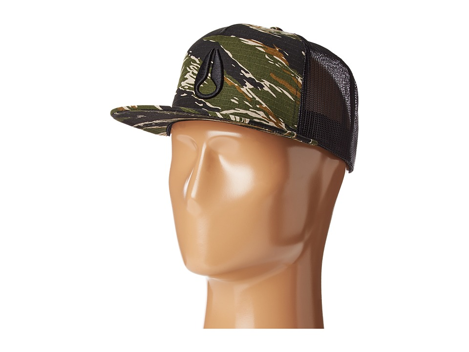 Nixon - Deep Down Trucker Hat (Tiger Camo) Caps