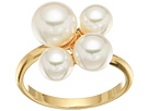 Majorica White Round Pearl Cluster Gold-Plated