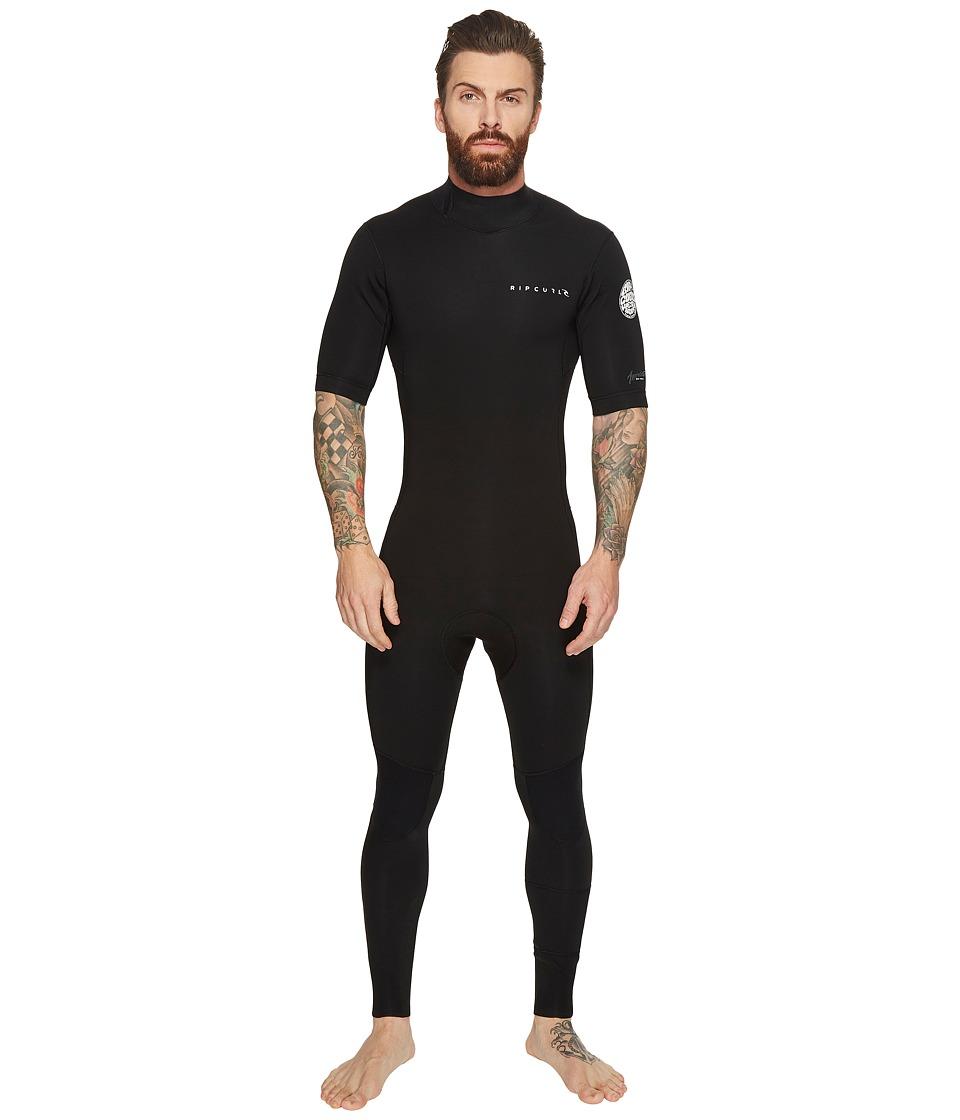 Rip Curl Aggrolite Short Sleeve GB B/Zip STMR (Black) Men