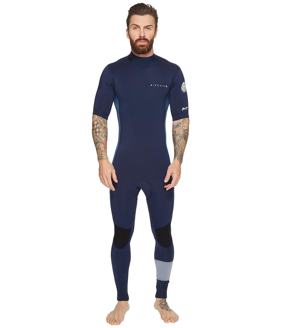 Rip Curl Aggrolite Short Sleeve GB B/Zip STMR (Navy) Men