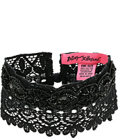 Betsey Johnson - Beaded Lace Choker w/ Ties