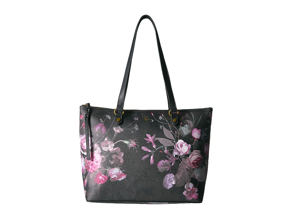 Elliott Lucca - Aria Small Tote (Black Rose Floral) Tote Handbags
