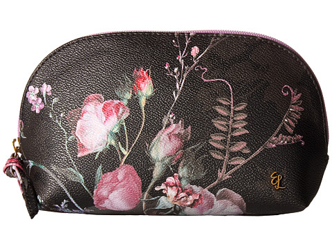 Elliott Lucca Dome Cosmetic - Black Rose Floral