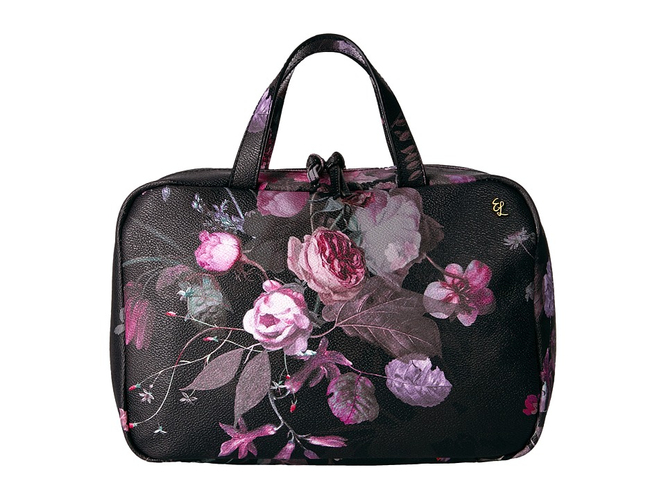 Elliott Lucca - Travel Case (Black Rose Floral) Handbags