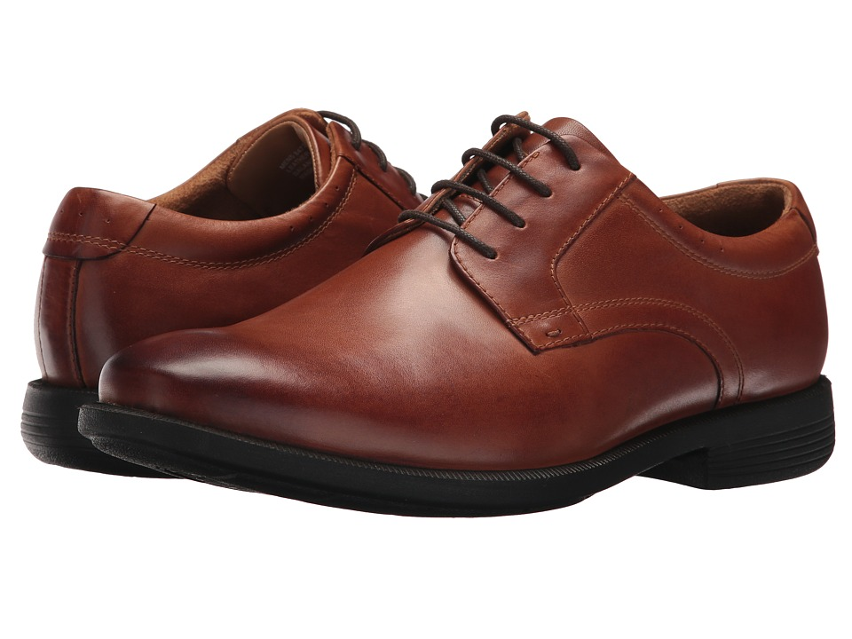 Nunn Bush Devine Plain Toe Oxford (Cognac) Men