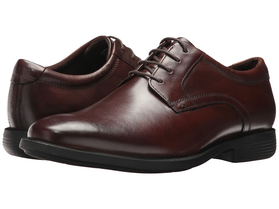 Nunn Bush Devine Plain Toe Oxford (Brown) Men