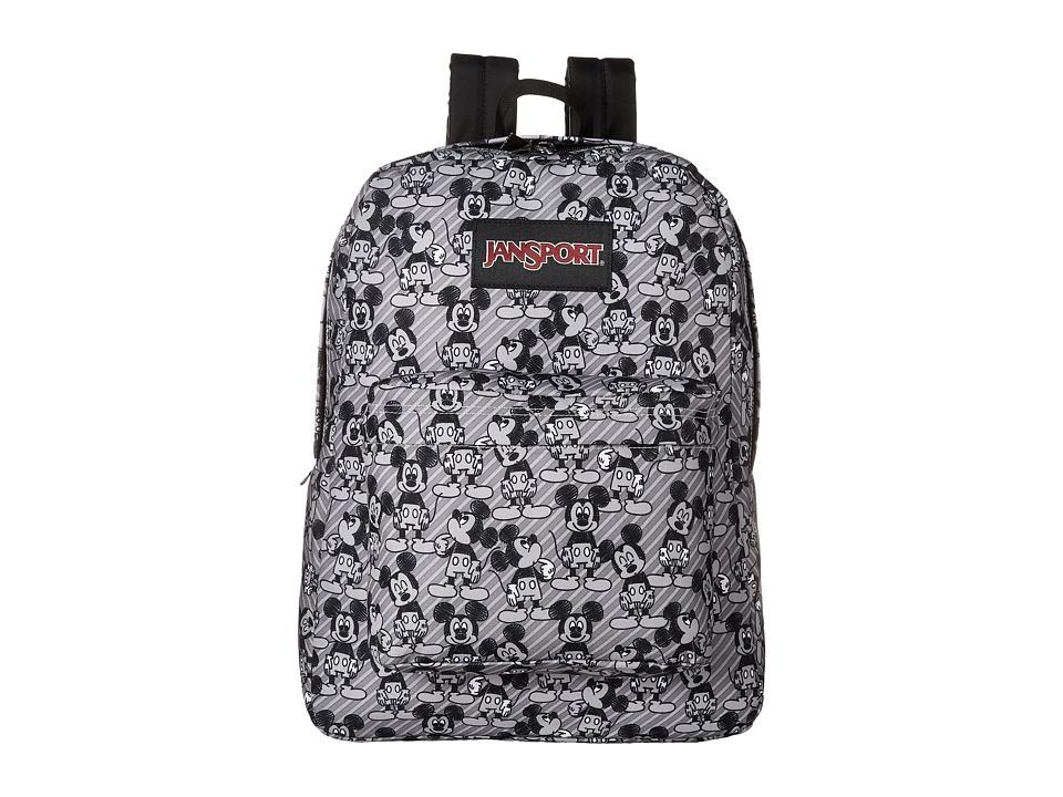 JanSport Disney SuperBreak (Grey Rabbit Mickey Sketch) Backpack Bags