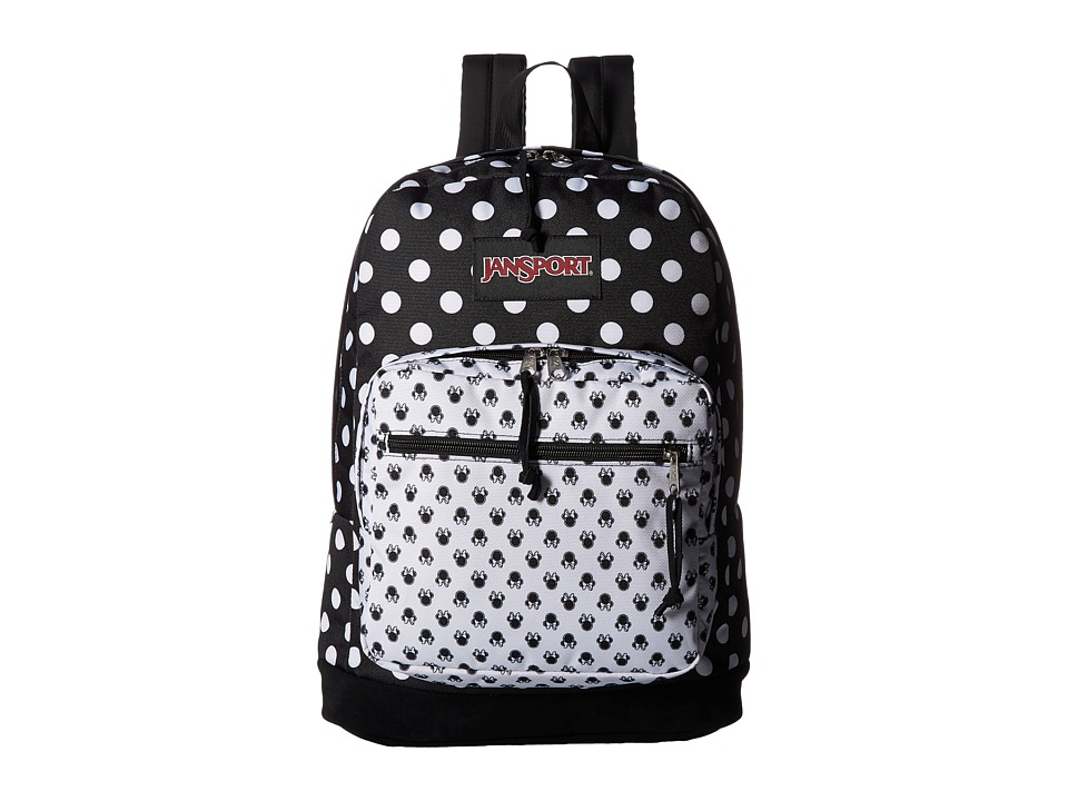 JanSport - Disney Right Pack Expressions (Minnie Black Polka Dot) Backpack Bags