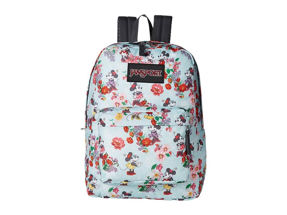 JanSport Disney SuperBreak (Blooming Minnie) Backpack Bags