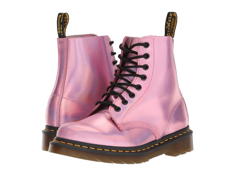 Dr. Martens Pascal RS 8-Eye Boot (Mallow Pink Reflective Metallic Leather) Women