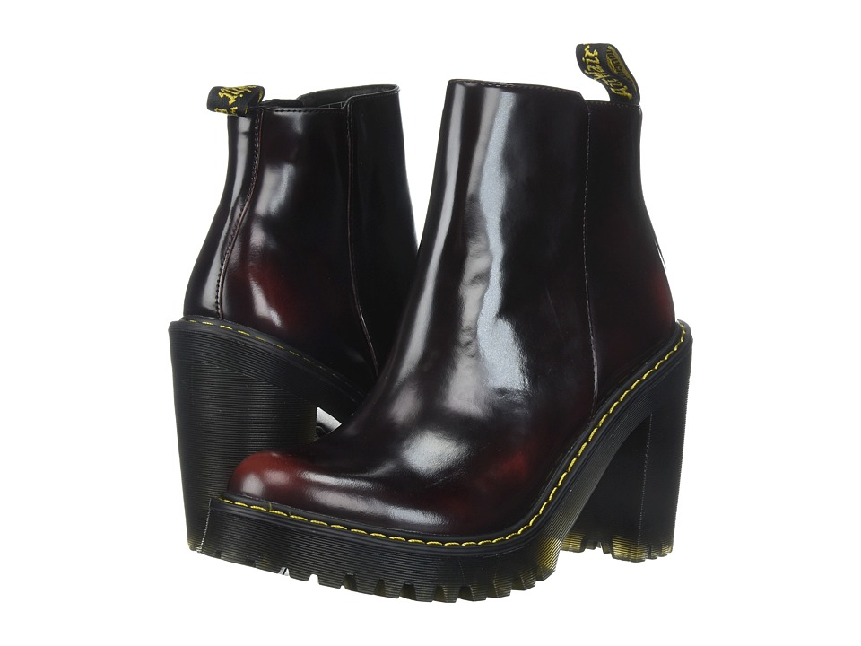 Dr. Martens Magdalena Ankle Zip Boot (Cherry Red/Arcadia) Women