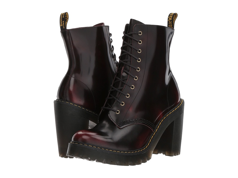 Dr. Martens - Kendra 10-Eye Boot (Cherry Red/Arcadia) Womens Boots