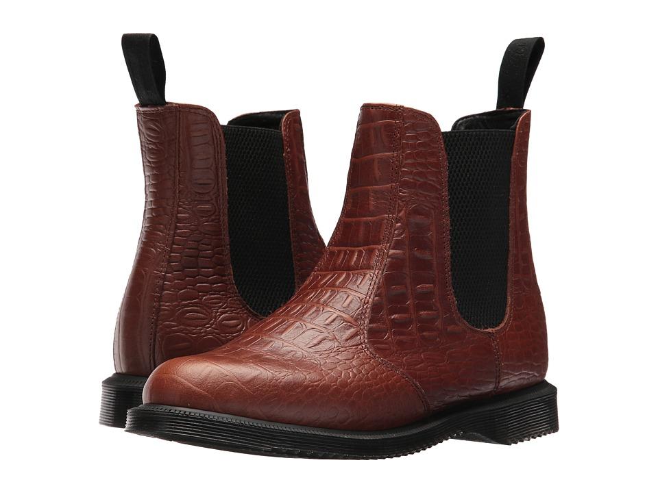Dr. Martens Flora Chelsea Boot (Dark Brown/New Vibrance Croco) Women