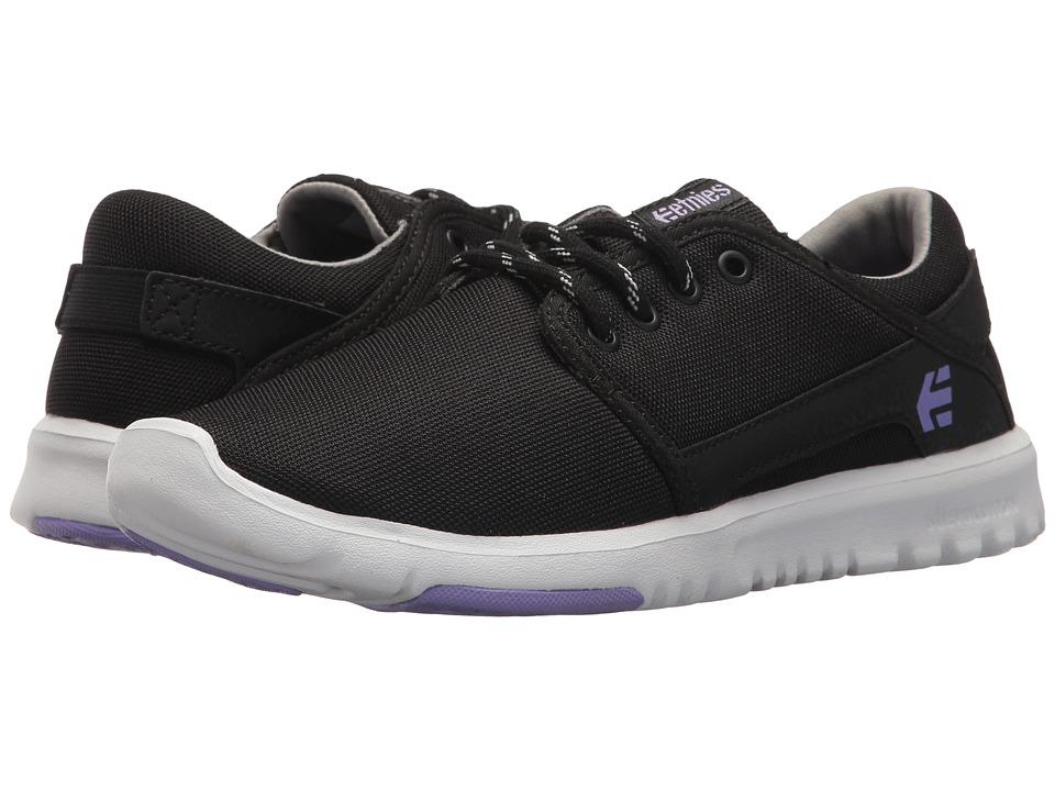 Etnies Scout W (Black/Purple) Women's Skate Shoes