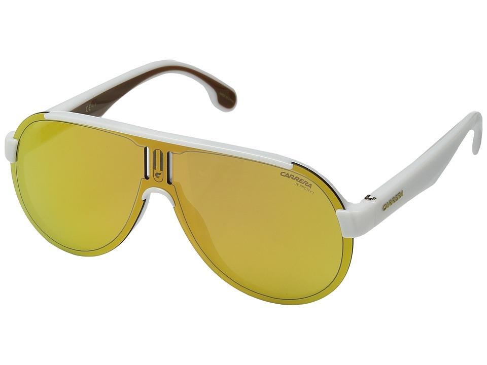 Carrera Carrera 1008/S (White/Gold Lens) Sport Sunglasses