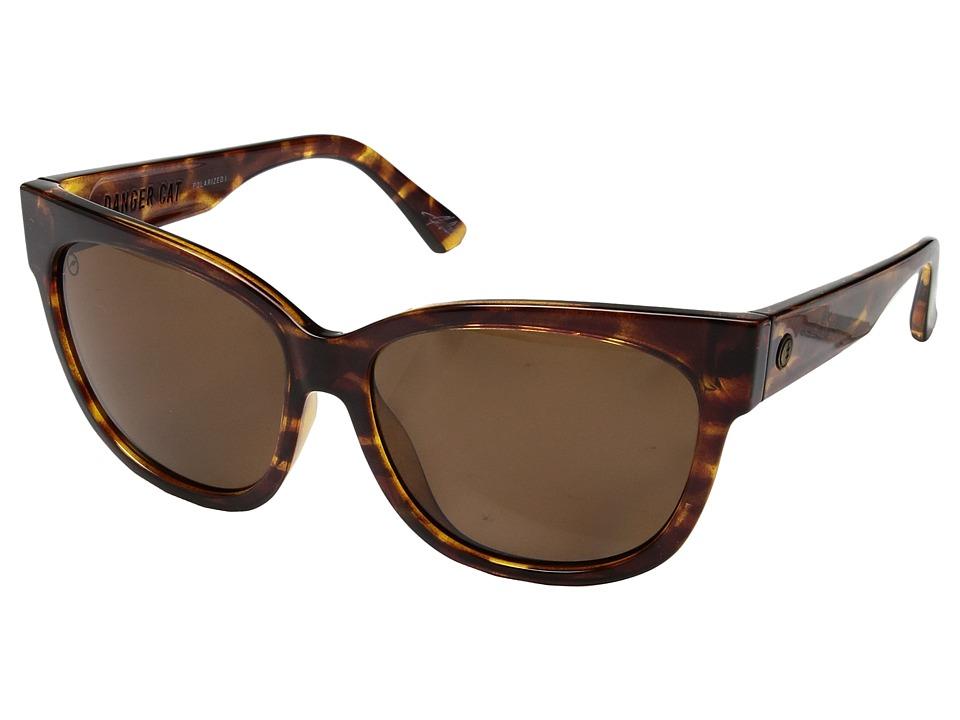 Electric Eyewear Danger Cat Polarized (Gloss Tortoise/Ohm Polar Bronze) Fashion Sunglasses