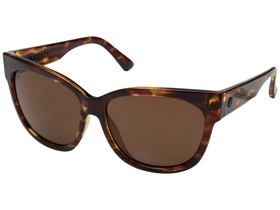 Electric Eyewear Danger Cat Polarized (Gloss Tortoise/Ohm Bronze) Fashion Sunglasses