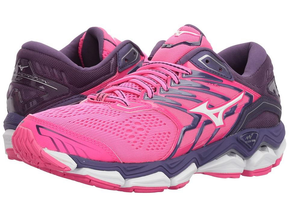 Mizuno Wave Horizon 2 (Pink Glo/White) Women's Running Shoes