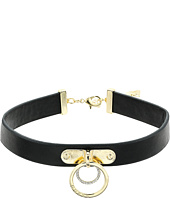 GUESS - Ring Drops on Dog Collar Necklace