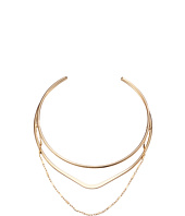 GUESS - Metal Layer Choker with Chain Drape Necklace