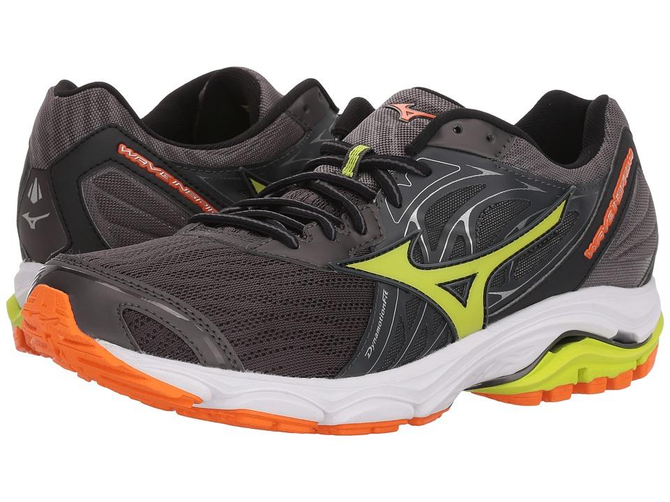 MizunoWAVE INSPIRE 14 - Stabilty running shoes - magnet/lime punch/vibrant orange BDLRiPfso