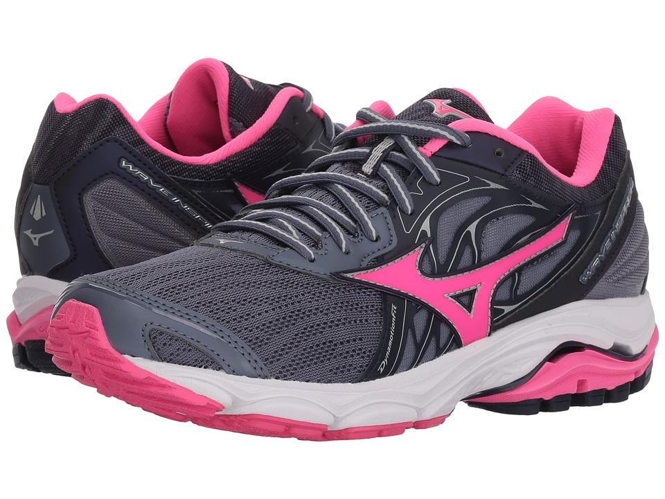 Mizuno Wave Inspire 14 (Folkstone Gray/Pink Glo) Women's Running Shoes