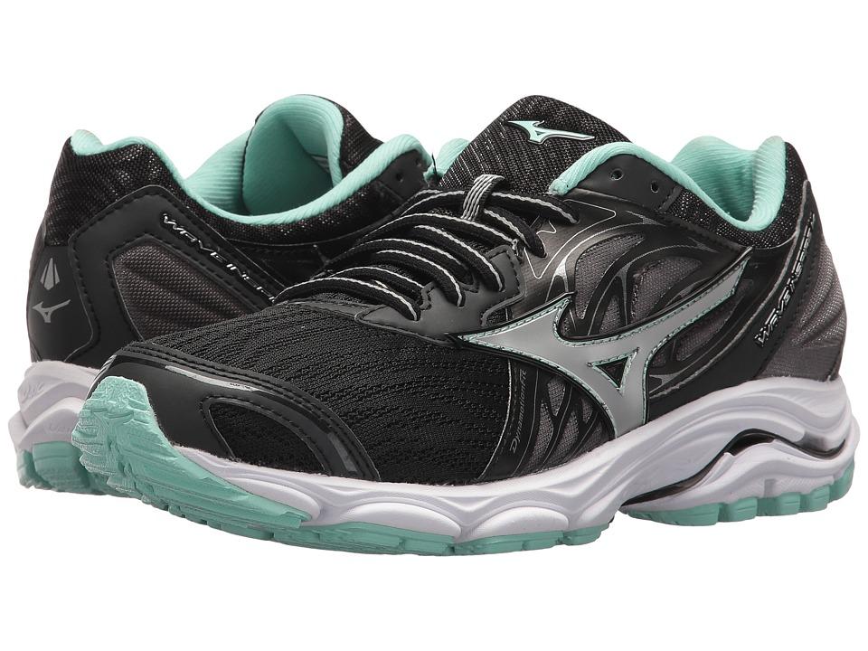 Mizuno Wave Inspire 14 (Black/Silver) Women's Running Shoes
