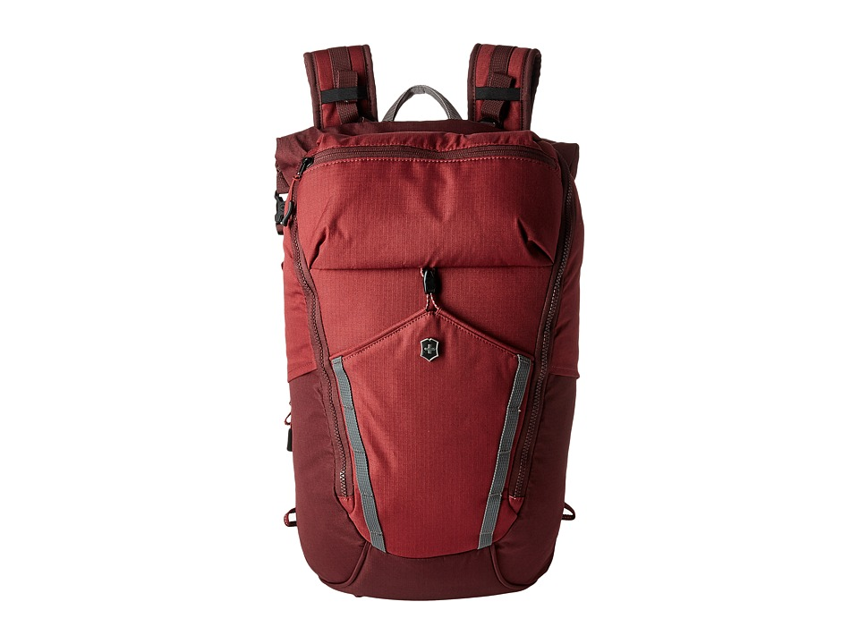 Victorinox - Altmont Active Deluxe Rolltop Laptop Backpack (Burgundy) Backpack Bags