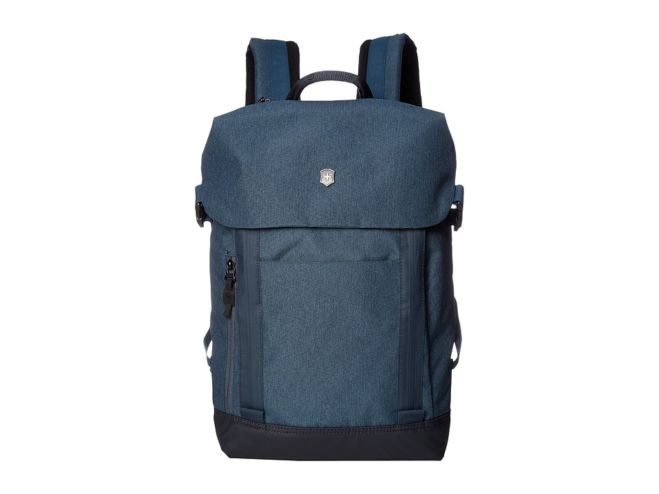 Victorinox - Altmont Classic Deluxe Flapover Laptop Backpack (Blue) Backpack Bags
