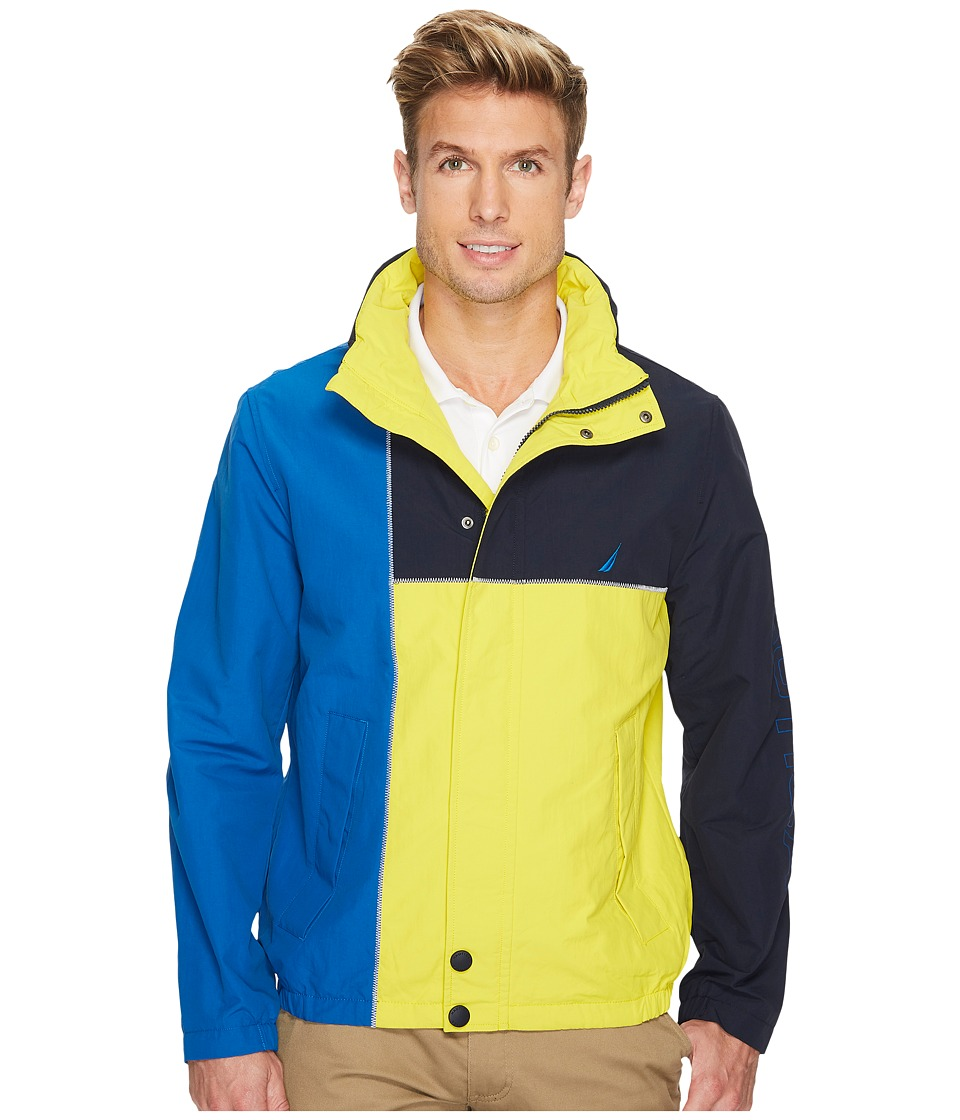 Nautica Color Blocked Jacket (Vibrant Yellow) Men's Coat