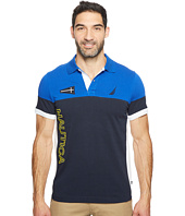 Nautica - Short Sleeve Logo Blocked Polo