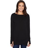 Mod-o-doc - Soft As Cashmere Cotton Interlock Crossover Front Raglan Tunic