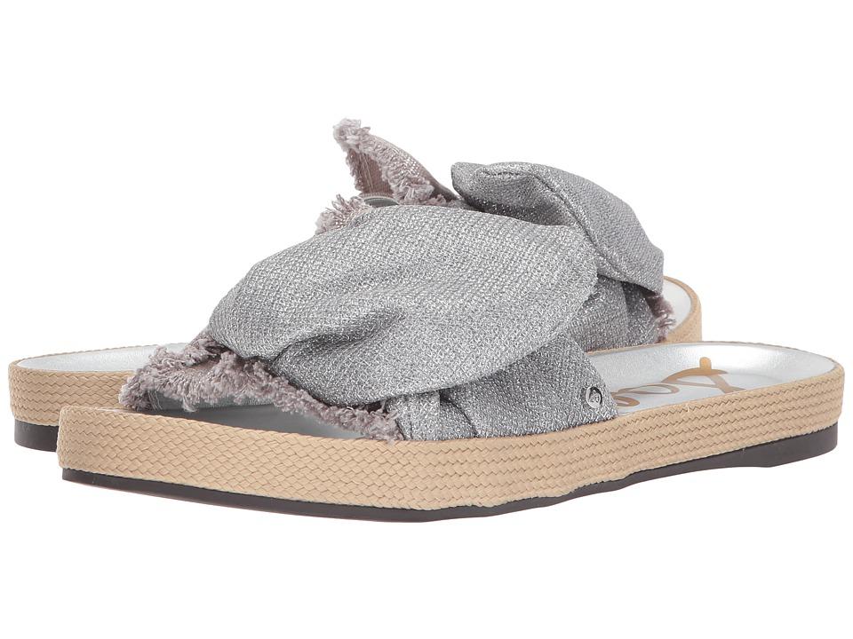 Sam Edelman - Bodie (Soft Silver Metallic Canvas/Glam Mesh) Womens 1-2 inch heel Shoes