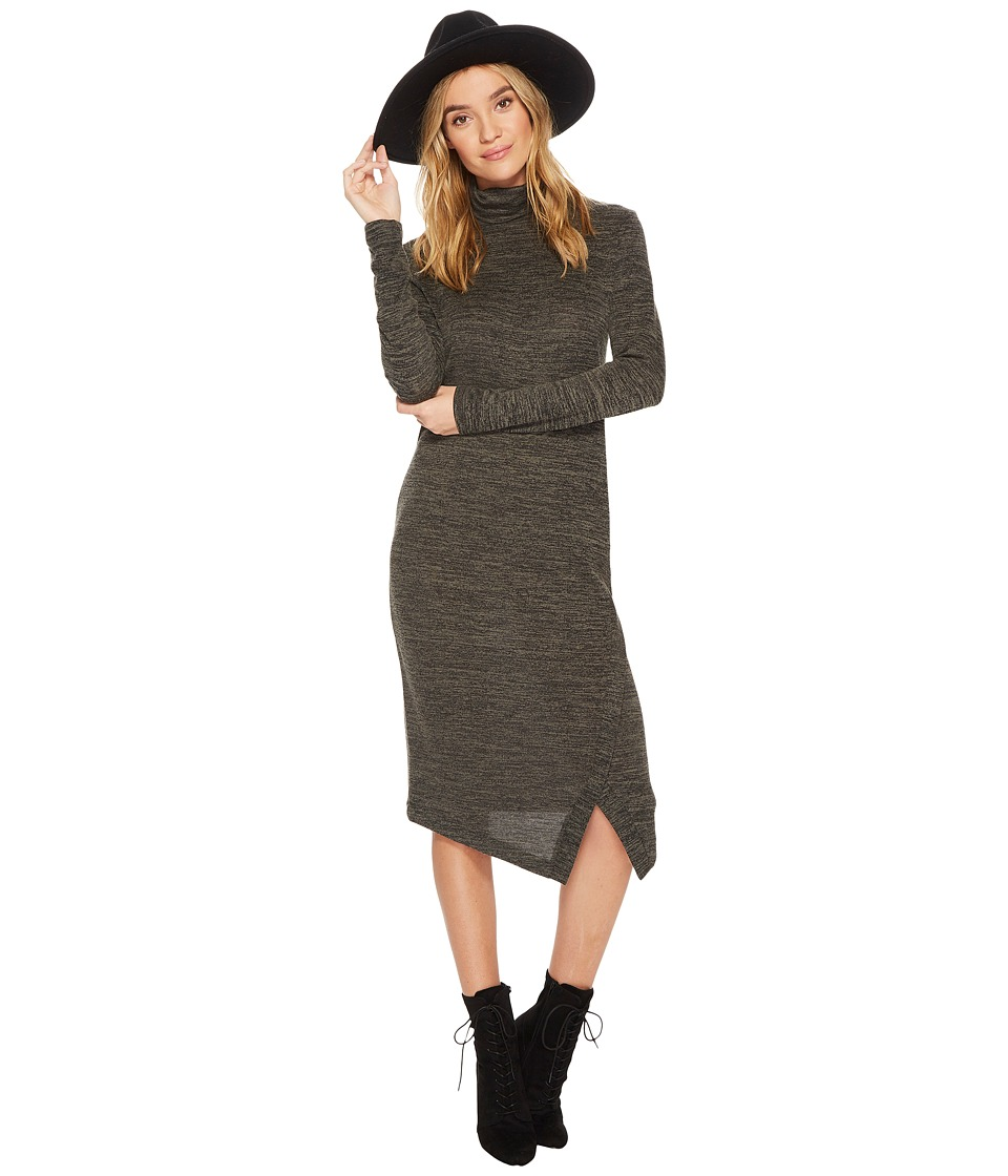 kensie Drapey Space Dye Dress KS0K8152 (Olive/Black) Women