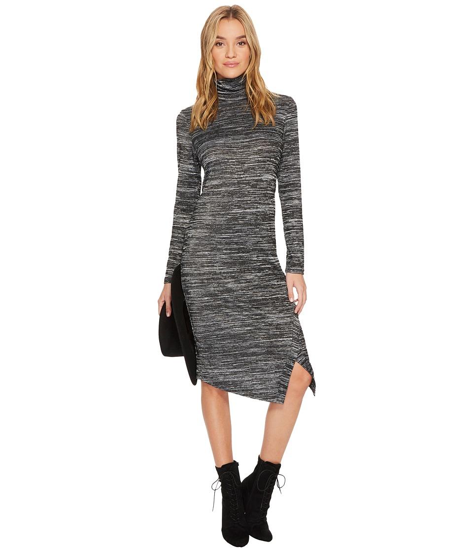 kensie Drapey Space Dye Dress KS0K8152 (Black Combo) Women