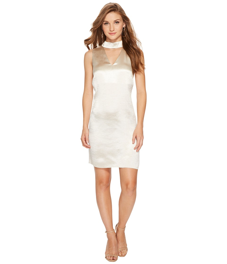 kensie Crinkled Satin Dress KSNU7058 (Tusk) Women