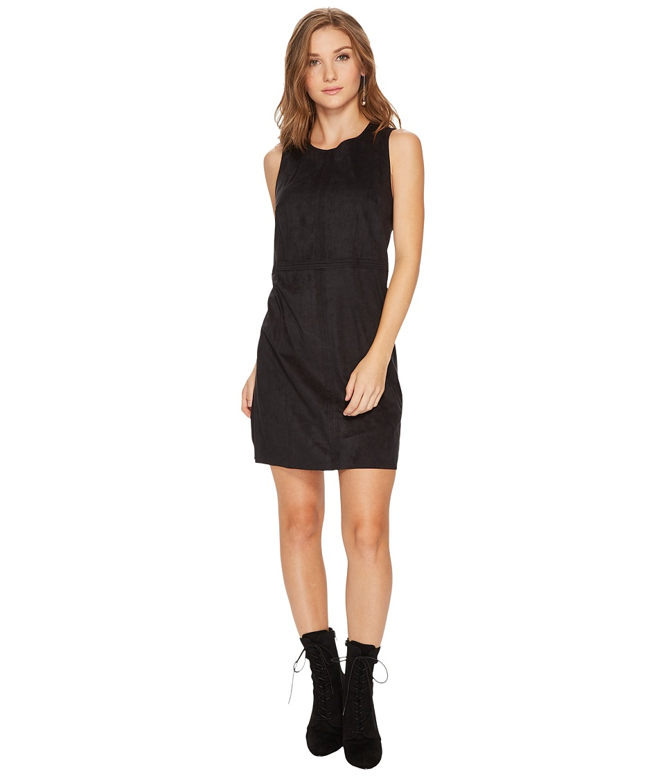 kensie Stretch Suede Dress KS0U7137 (Black) Women